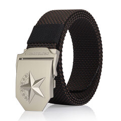 125CM Casual Nylon Smooth Buckle Belt Durable Breathable Tactical Canvas Belt For Men