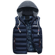 Winter Stylish Sports Thicken Slim Hooded Casual Vests for Men