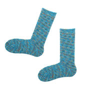 Women Artistic Colorful Warm Middle Tube Socks Thick Lines Piles Socks