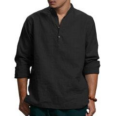 Мужские однотонные футболки в китайском стиле
