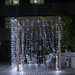 3mx3m 300 LED Catene Luminose Luce Lampadinedi Tenda 220V Decorazione Domestica a Giardino e Natale