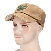 Men Cotton Solid Sunscreen Flat Hat Outdoor Military Training Army Baseball Caps Adjustable