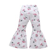 Cherry Printed Girls Casual School Long Flare Pantaloni Per 2Y-9Y