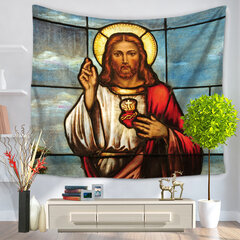 Portrait Oil Painting Polyester Wall Hanging Tapestry Home Decorative Comfortable Sofa Cover