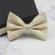 Men's Pure Color Classic Tuxedo Bowtie Adjustable Solid Tie