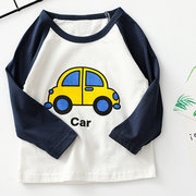 Cartoon Long-Sleeved T-shirt Cotton Baby Bottoming Shirt For 1-9Y