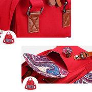 Triple-purpose Canvas Handbag Multionctional Shoulder Bag Crossbody Bags Backpack For Women