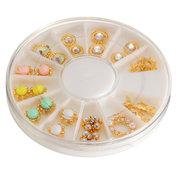 12 Mixed Styles Alloy Diamond Jewelry Nail Art Decoration