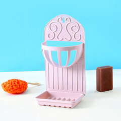 Creative Double Shelves Wall Paste Soap Drain Kitchen Drain Basket