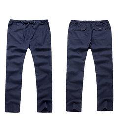 Мужские дышащие хлопчатобумажные брюки китайский стиль