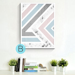 Minimalist Watercolor Abstract Geometric Graphic Oil Painting Art Painting Center Decorative Paintin