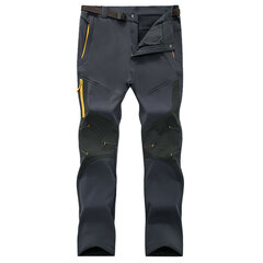 Mens Winter Outdoor Soft Shell Warm Lined Water-repellent Quick-Dry Breathable Climbing Sport Pants