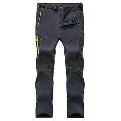 Uomo Pantaloni Sportivi Invernali con Fodera con Guscio Morbido Impermeabile Traspirabile a Rapida Asciugatura