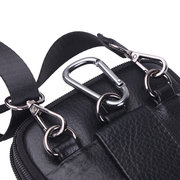 Multi-functional Genuine Leather 7 Inch Phone Bag Waist Bag Crossbody Bag For Men
