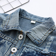 Patch Designs Boys Girls Toddler Denim Coat Children Outfit For 1-7Years