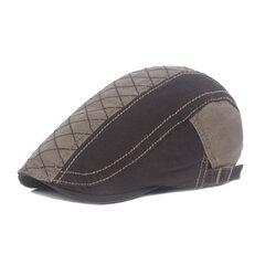 Uomo Donna Cotone Colore abbinato Vogue Berretto Cappellino Anatra Cappello Parasole Casual All'aperto Cappello con visiera rialzata