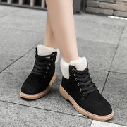 Furry Lace Up Suede Ankle Boots