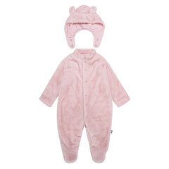 Cute Ear Shape Unisex Baby Fleece Romper with Hat For 3-18M
