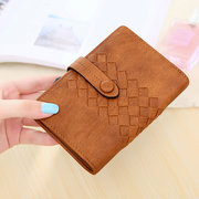 Women Small PU Leather Bi-fold Wallet Purse Card Holder