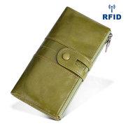 Hommes Véritable En Cuir RFID Antimagnétique Long Téléphone Portefeuille Titulaire De La Carte Téléphone Sac