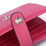 Women Genuine Leather Card Holder Simple Casual Wallet Purse