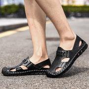 Sandali in pelle da esterno traspiranti e traspiranti