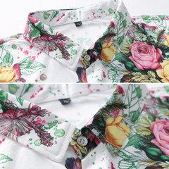 بالاضافة الى حجم سليم زهرة طباعة قمصان هاواي بيتش للرجال