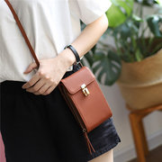 Women Leisure 6 Card Slot Phone Purse Multi-function Crossbody Bags Faux Leather Shoulder Bags