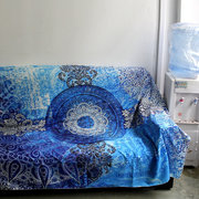 Indian Mandala Tapestry Wall Hanging Blue Sofa Cover Bohemian Bedspread Home Decor