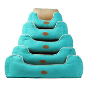 3 Colors Short Plush Suede Pet Couch Sofa Bed Dog Cat Winter Warm Sleeping Kennel