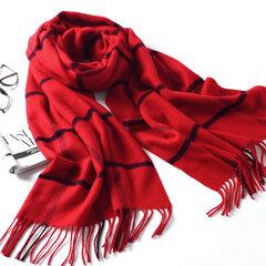 LYZA 200CM Hiver Doux Toile écharpe longue et chaude Écharpe élégante à grande taille à châle à grille pour femmes