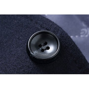 Mens Mid-long Woolen Coat Thickened Warm Single-breasted Slim Fit Casual Coat With Shawl