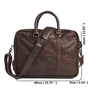 Genuine Leather Business Laptop Bag Briefcase Crossbody Bag