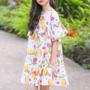 Цветочные девушки с коротким рукавом повседневные Платье на 4-15 лет