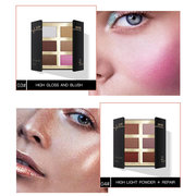 6 Colors Highlighter Powder Palette Long-Lasting Glow Kit Bronzers Eyeshadow Palette For Face Makeup