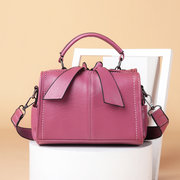 Women Leisure Solid Casual Crossbody Bag Multi-function Handbag Concise Shoulder Bag