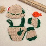Lindos bebés recién nacidos Chicos Traje de punto de ganchillo Fotografía Foto Trajes de utilería