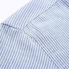 رجال ربيع الخريف أزياء الأعمال عارضة مخطط موقف ذوي الياقات البيضاء اللباس القميص