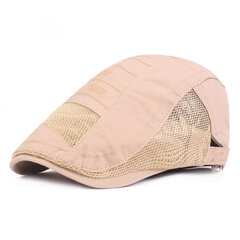 Men's Mesh Cotton Beret Breathable Adjustable Cap