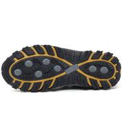 Hombres de tela de malla transpirable antideslizante encaje elástico Casual senderismo zapatillas