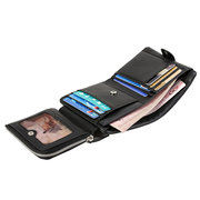 Genuine Leather Wallet 8 Card Slots Casual Business Card Holder Coin Bag For Men Women
