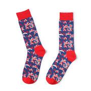Men's Classic Cotton Hot Air Graffiti Socks Male Breathable Soft Personalized Long Middle Tube Socks