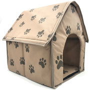 Paw Pattern Foldable Fabric Pet Dog Cave House Anti-scratch Puppy Crates