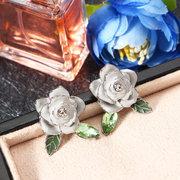 Ювелирные изделия JASSY® Elegant Flowers Серьги с бриллиантами и бриллиантами