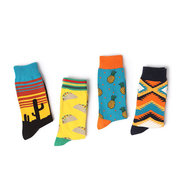 Women Cotton Blend Socks Design Multi-Color Casual Middle Tube Socks Cute Socks For Christmas Gift