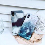 Женское Черно-белые чернила кремнезема старины Гель Soft Задняя крышка iPhone Phone Чехол