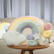 Японский Радуга Плюшевые Диван Подушка Подушка Kawaii Подарок Home Decor Soft Симпатичные