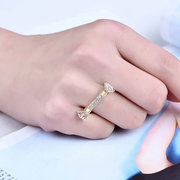 Women's Special Ring Gold Plated Zircon Ring