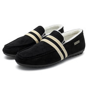 Men Artificial Suede Warm Plush Lining Casual Shoes
