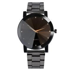 أزياء زوجين ساعة اليد كوارتز لا رقم جولة الطلب الفولاذ المقاوم للصدأ حزام ساعات للنساء الرجال